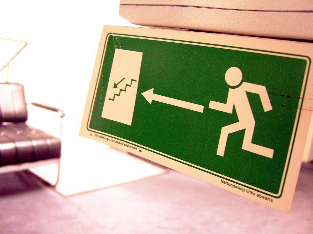 fire exit logo