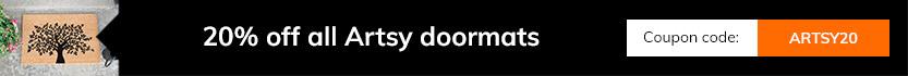March Deals - 20% off all Artsy doormats