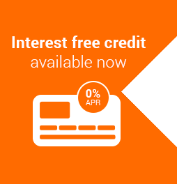 Interest free credit available until April 23rd