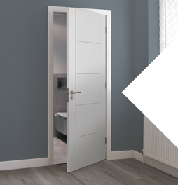 5% off JB Kind Tigris white flush and fire doors