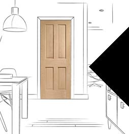 Durable and stylish internal oak fire doors