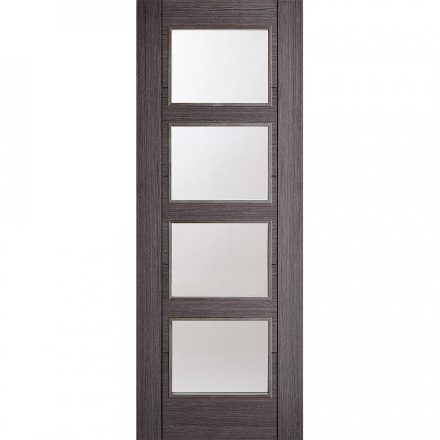 LPD Internal Ash Grey Vancouver 4 Light Glazed Door