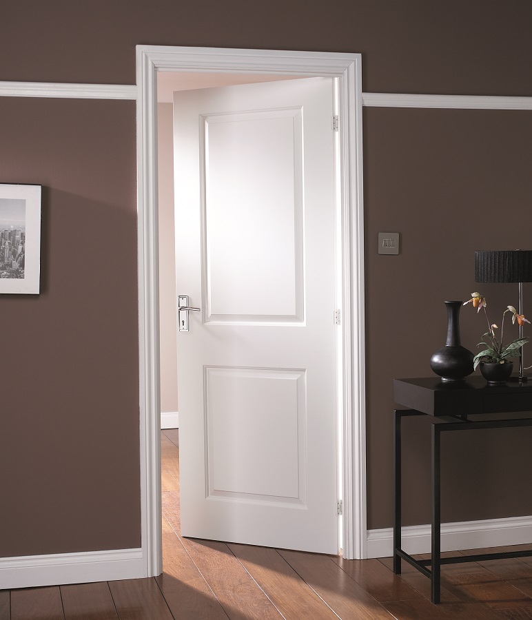 Jeld Wen Cambridge White Primed 2 Panelled Middleweight Interior