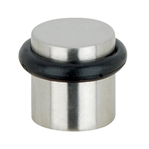 Cylinder Floor Mounted Rubber Buffer Door Stop Stainless Steel 25mm