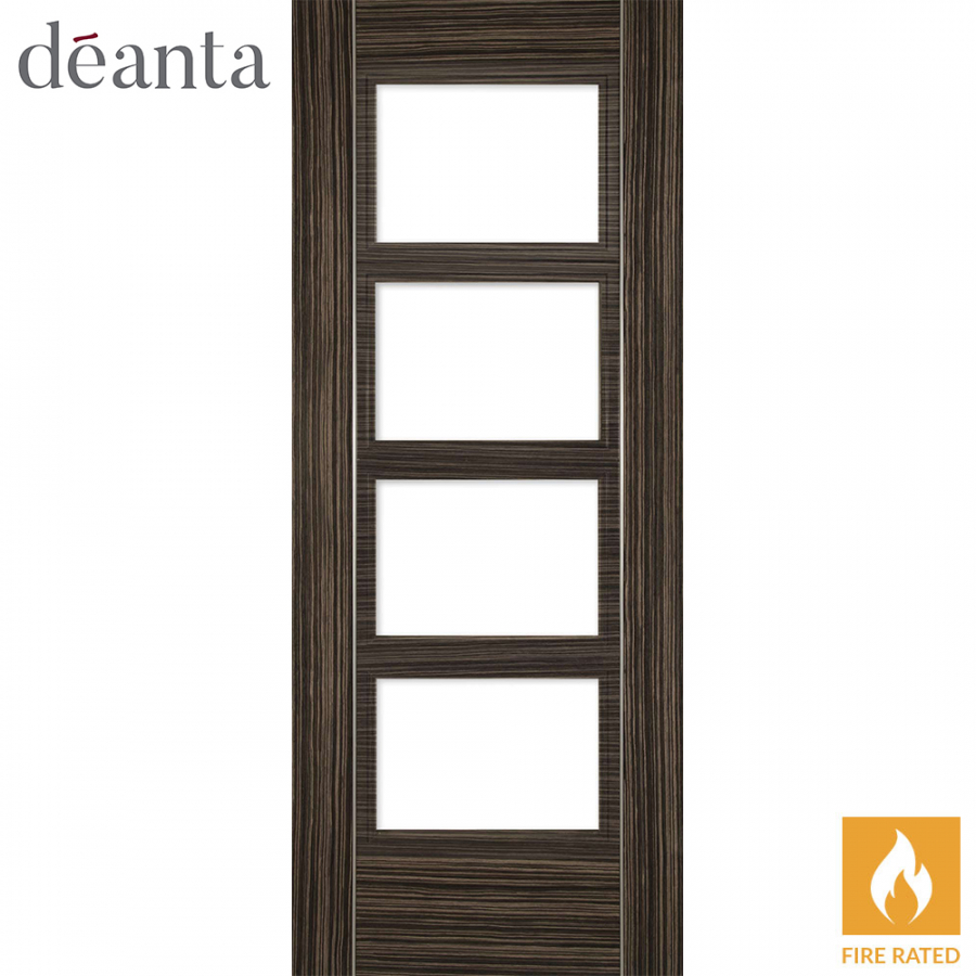 Deanta Internal Abachi Calgary Glazed Fire Door