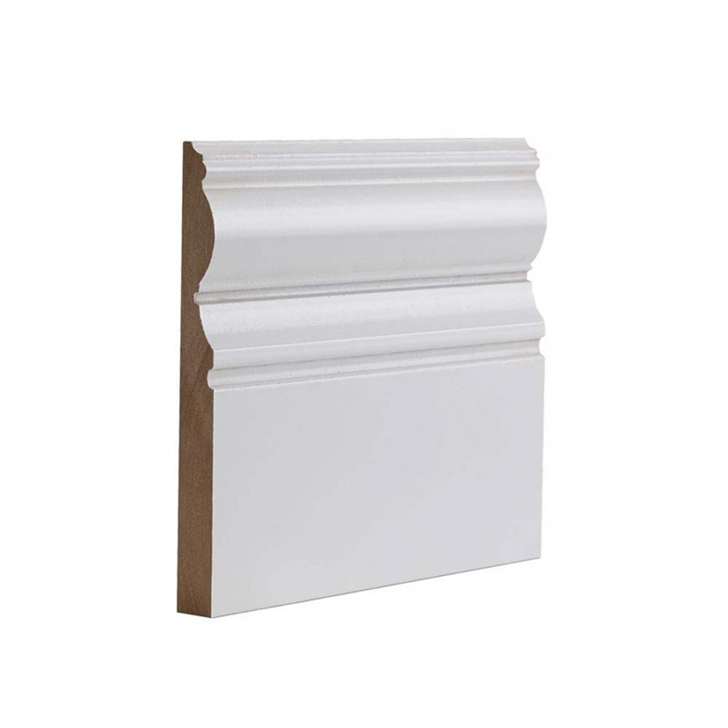 Deanta Pack of 4 White Primed Victoriana Skirting 3600mm x 180mm