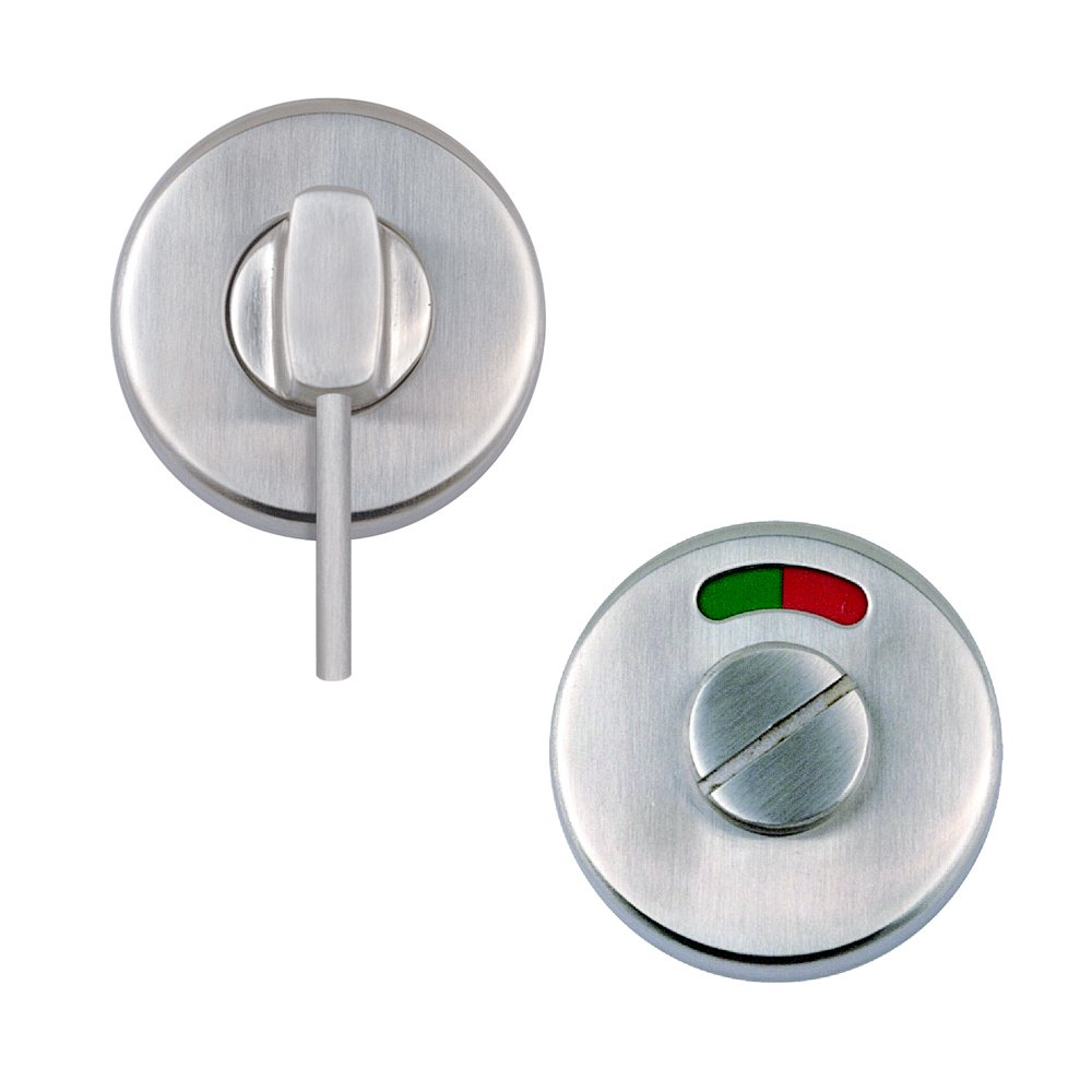 Excel Disabled Bathroom Door Stainless Steel Turn and Release Set with Indicator