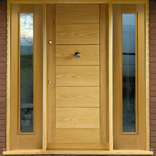 External Oak Double Leaf Door Pair Frame Pack