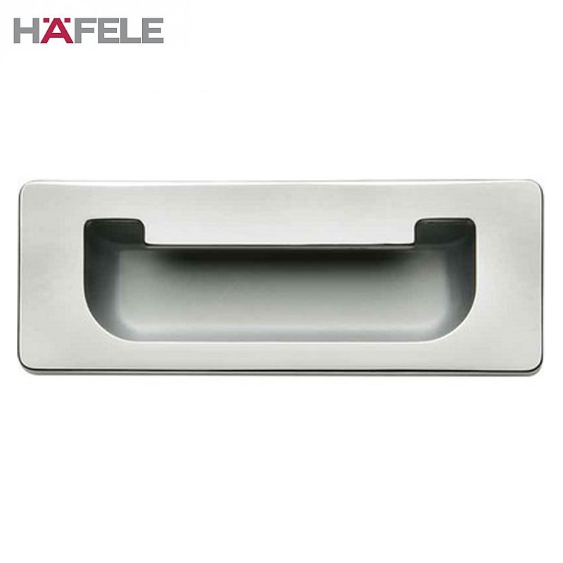 Flush Inset Cabinet Door Pull Handle In Polished Chrome Door