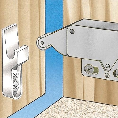 6.3 Long Silver Tone Aluminum Alloy Automatic Door Closers