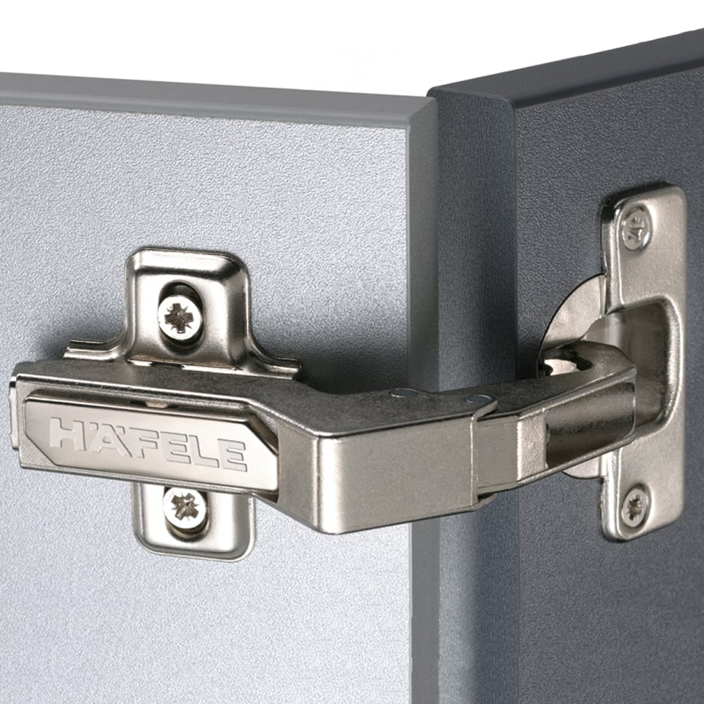 Hafele Pie Cut Corner 90 Degree Concealed Cabinet Hinges  - Pre-Mounted Euro Screw (3mm Height)