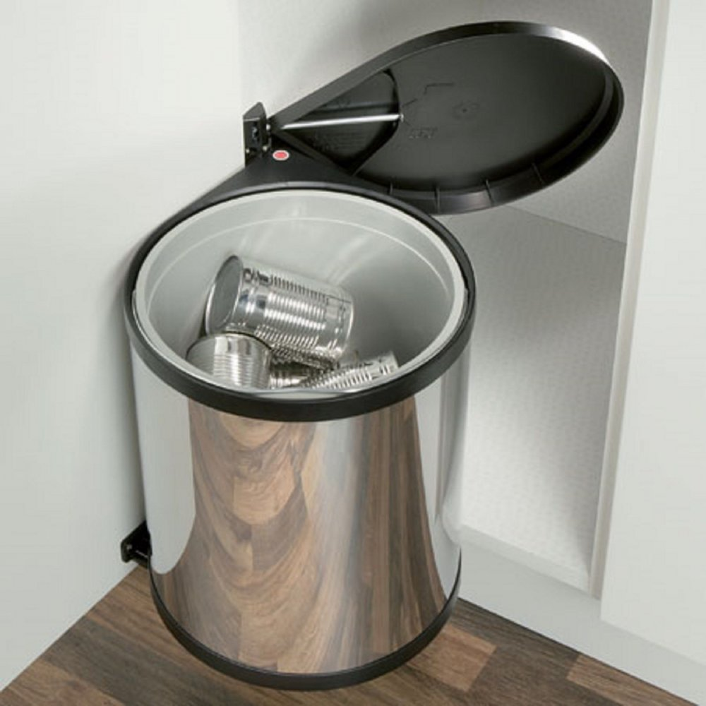Hafele Polished Stainless Steel Kitchen Under Sink Waste Bin (15L)