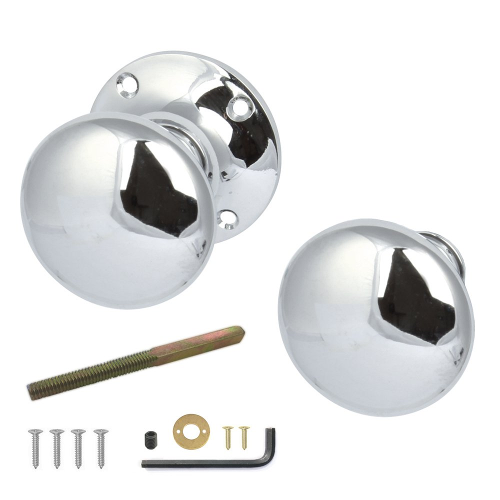 H?§fele Rim Door Knobs Pair Polished (Chrome)