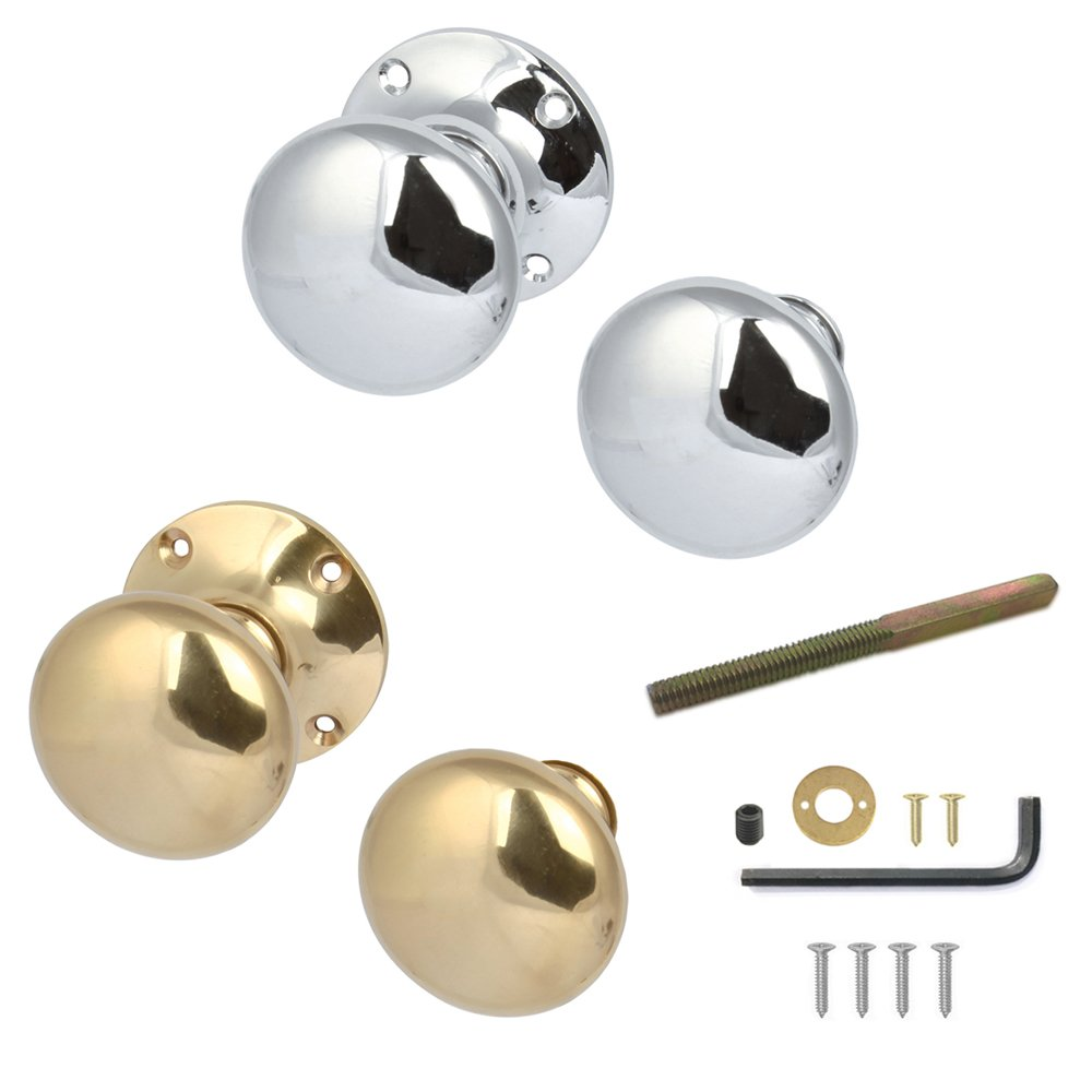 Hafele Rim Door Knobs Pair Polished (Chrome)