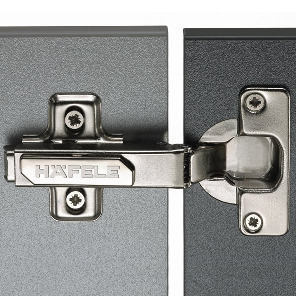 Hafele Standard 110 Degree Concealed Cabinet Hinge (Click On)  - Pre-Mounted Euro Screw (3mm Height)