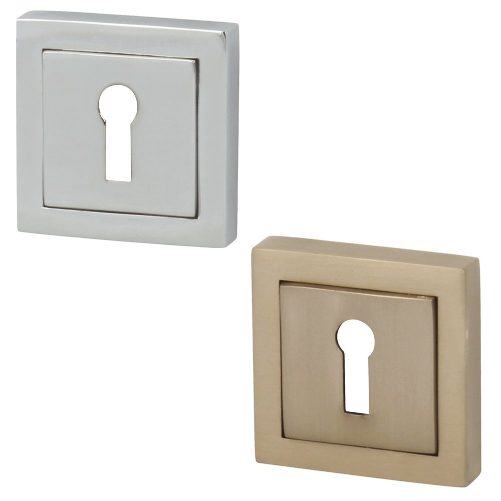 VENMORE THORNTON Square Rose Keyhole Door Escutcheon