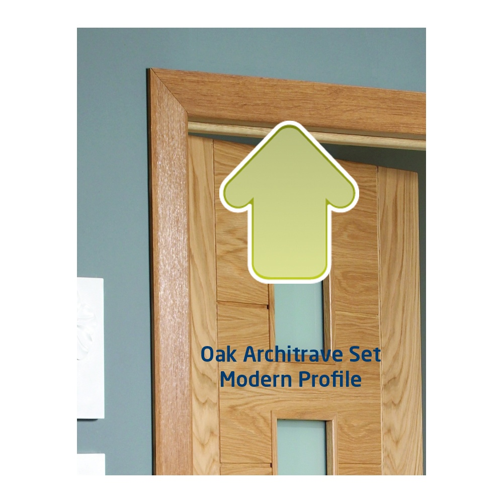 Internal Oak Door Architrave Set (Modern Profile)