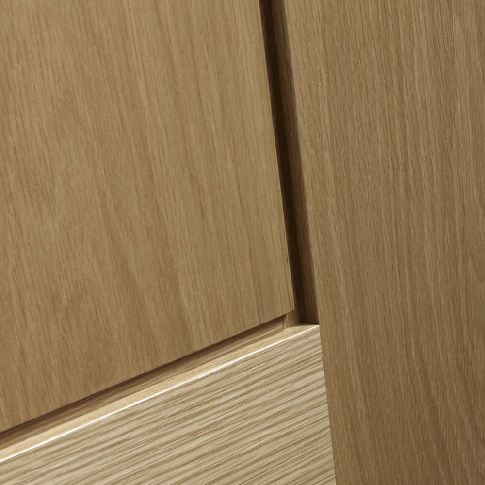Internal Oak PIACENZA Clear Glazed Panelled Door