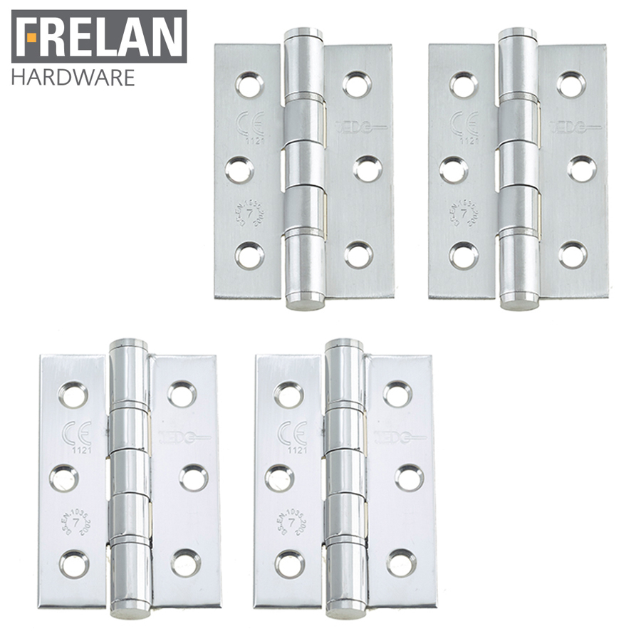 Frelan Hardware Pair of Grade 7 Fire Rated Stainless Steel Washered Hinges
