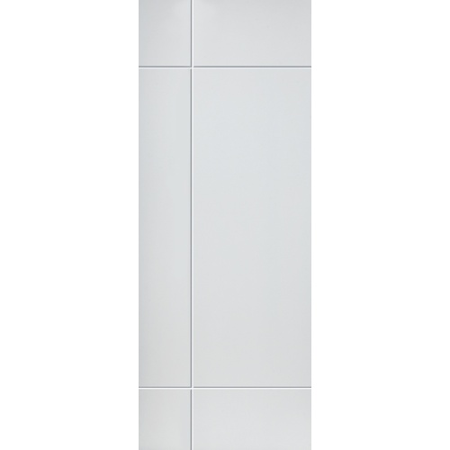 JB Kind Internal White Primed LYRIC Feature Grooved Flush Door