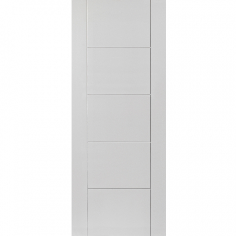 JB Kind Internal White Primed TIGRIS Pre-Finished Grooved Flush Door 686mm x 1981mm
