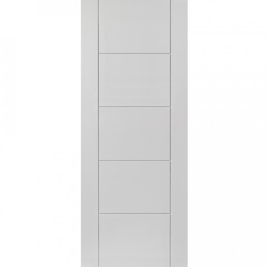 JB Kind Internal White Primed TIGRIS Pre-Finished Grooved Flush Door 762mm x 1981mm