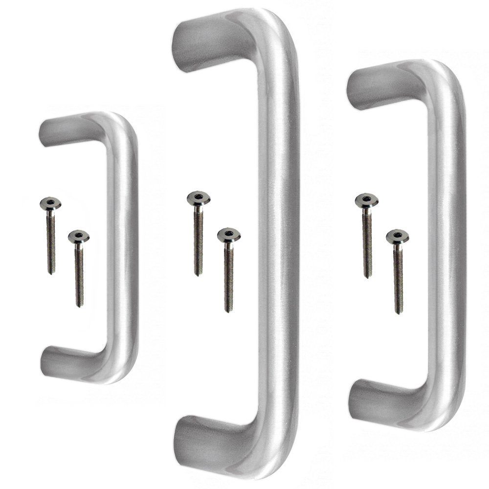 Jedo D SHAPED Grade 202 Stainless Steel Commercial Door Pull Handle