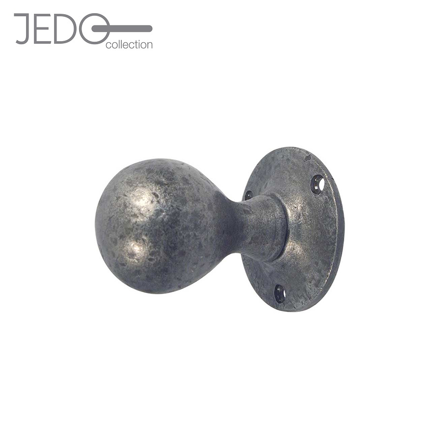 Jedo Pewter Antique Ball Shape Mortice Knob