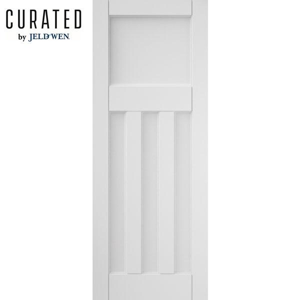 White interior 3 panel doors Prehung Jeldwen Curated White Primed Interior Panel Door Better Homes And Gardens Jeldwen Curated White Primed Interior Panel Door Door Superstore