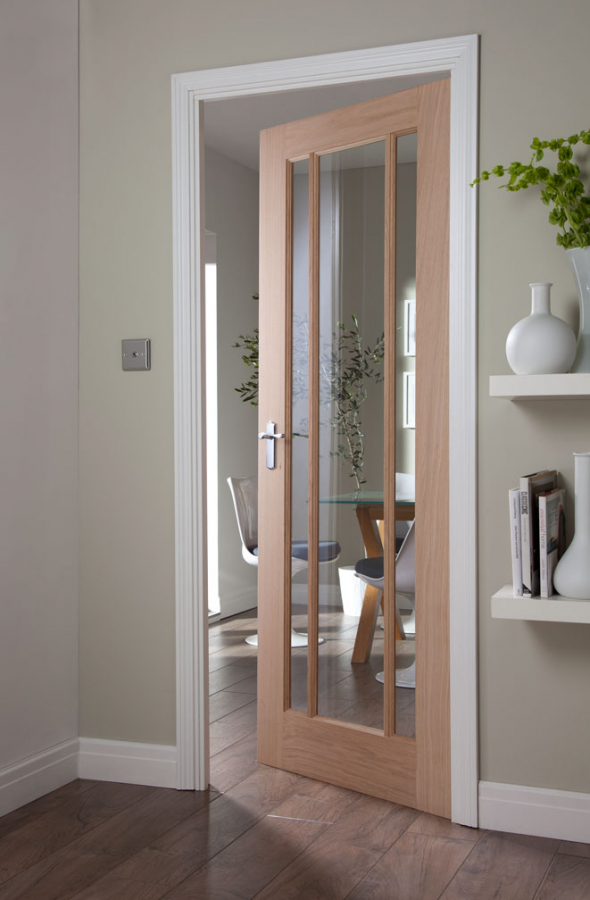 Jeld Wen Curated Oak Interior Oregon Worcester Glazed Door Door