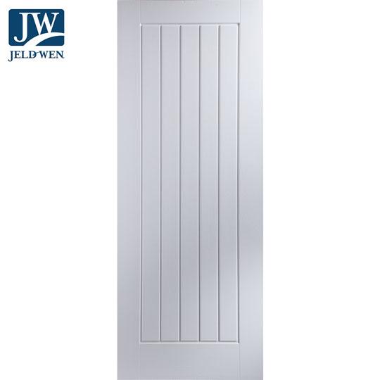 Jeld Wen Newark White Primed 5 Panel Middleweight Interior Door