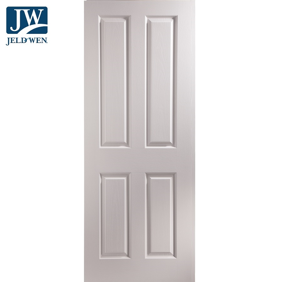 JELD-WEN Oakfield Hollow Core 4 Panel Primed Interior Door