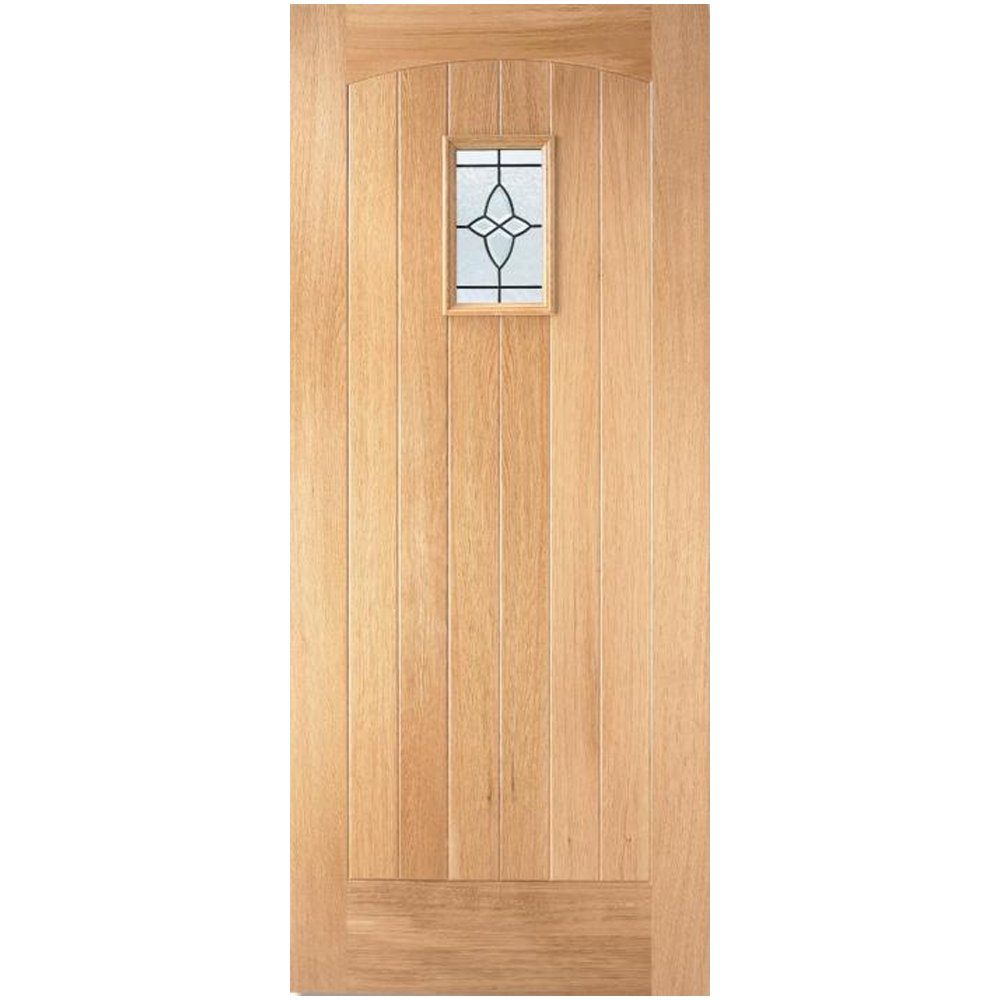 LPD External Oak COTTAGE Lead Glazed Door D&G