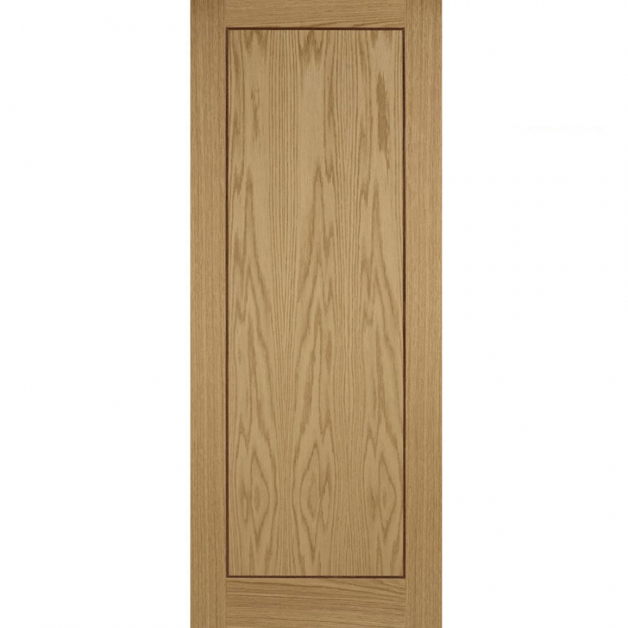 LPD Internal Oak INLAY Pre-Finished 1 Panel Flush Door