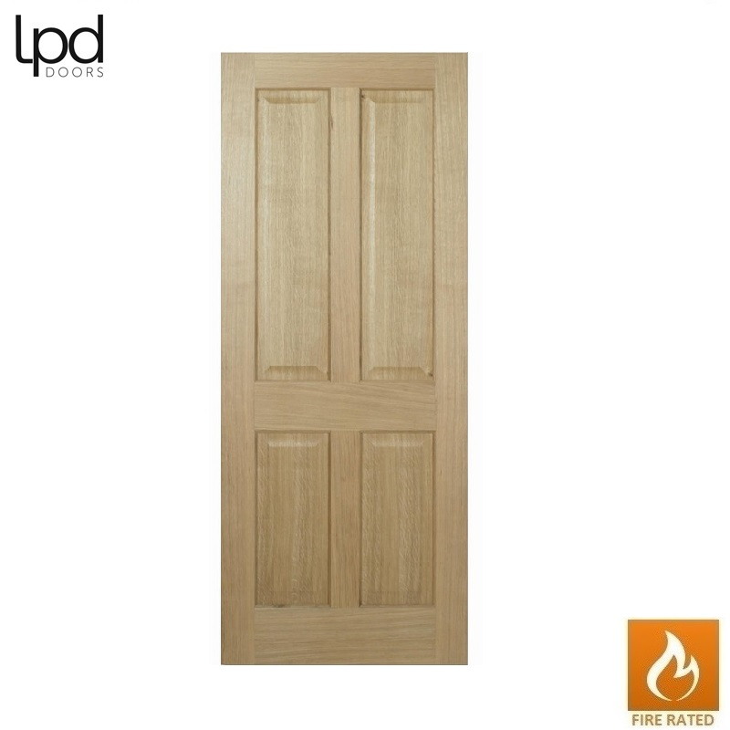 Internal Oak REGENCY Pre-Finished Traditional 4 Panel Fire Door FD30