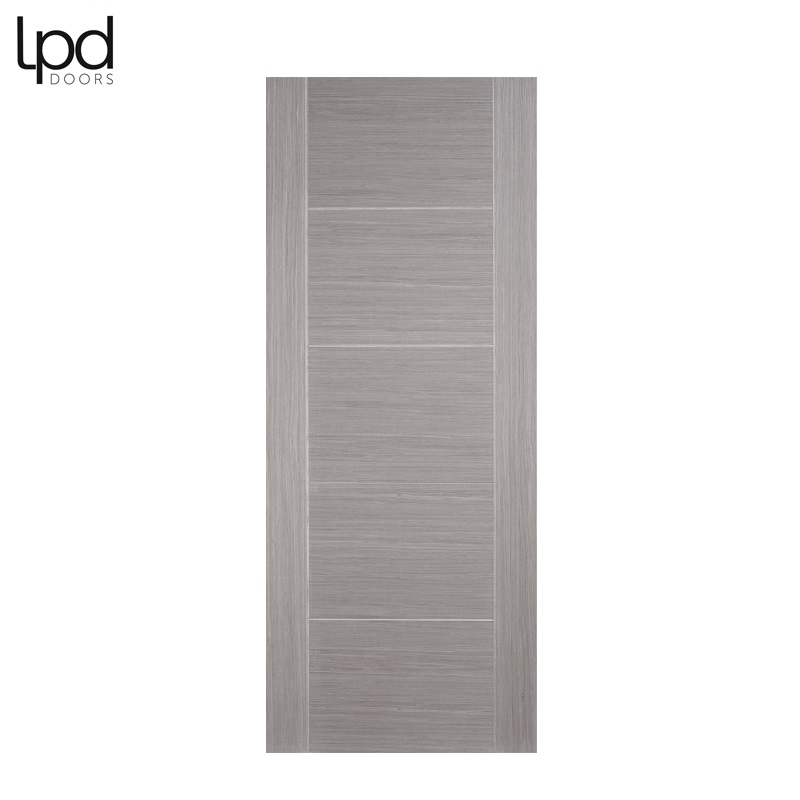 Internal VANCOUVER Light Grey Pre-Finished 5 Panel Flush Door
