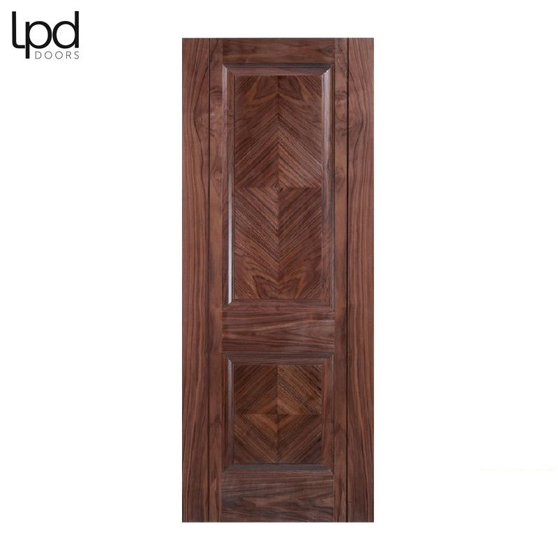 Internal Walnut MADRID Pre-Finished 2 Panel Door