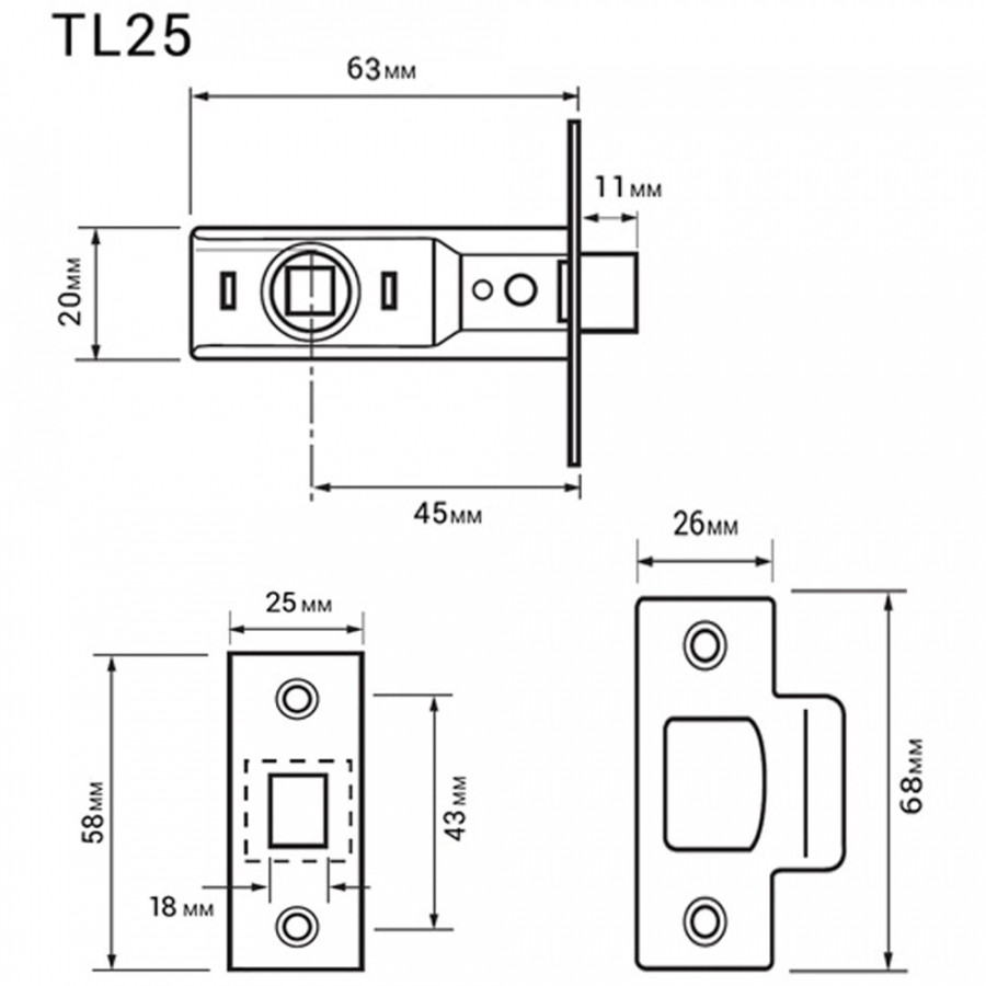 Mortice Internal Door Bolt Through Tubular Latch Superstore Knob Diagram Handle Linkage Rod Tech