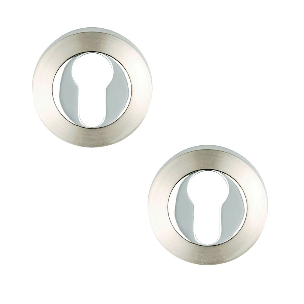 Excel Pair of Designer PHOENIX TITON COLIMA PLUS Euro Profile Door Escutcheons