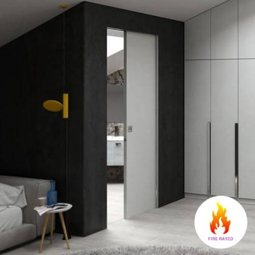 single fire rated pocket door cavity sliding system door superstore