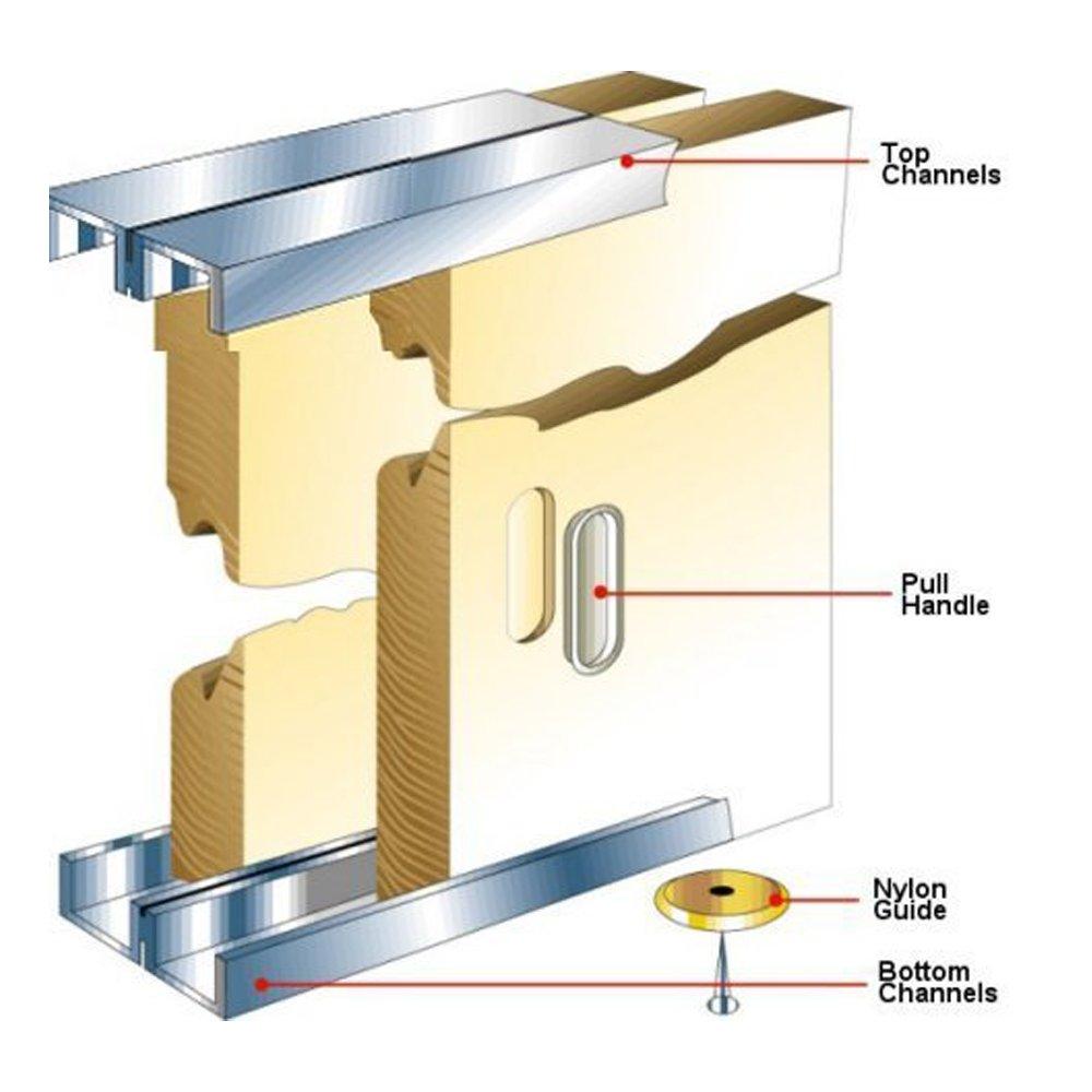 Slik Sliding Cupboard Door Gear Track Kit 1219mm Door Superstore