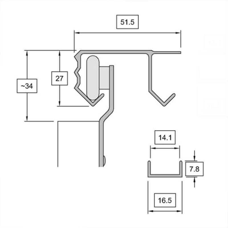 slik sliding wardrobe door gear no1 track kit  1828mm