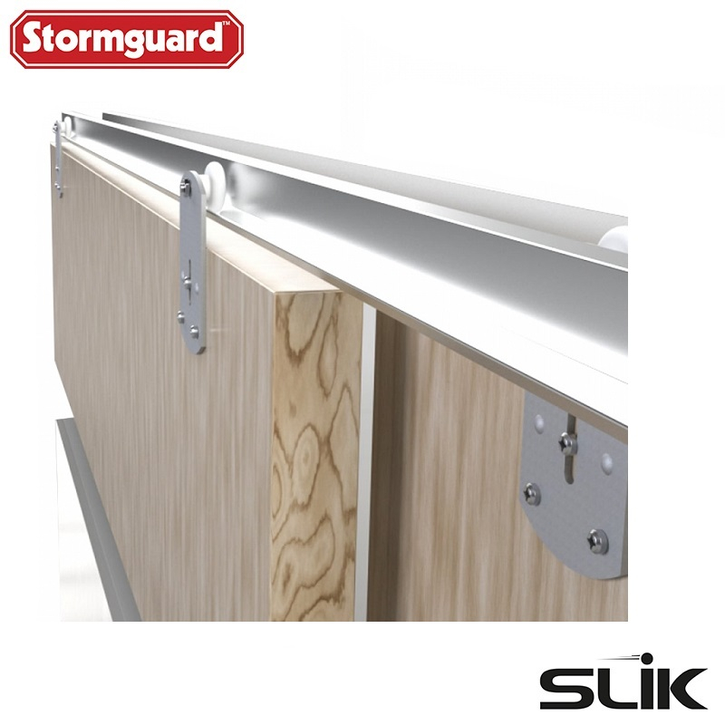 SLIK Sliding Wardrobe Door Gear No2 Heavy Duty Track Kit (2438mm)