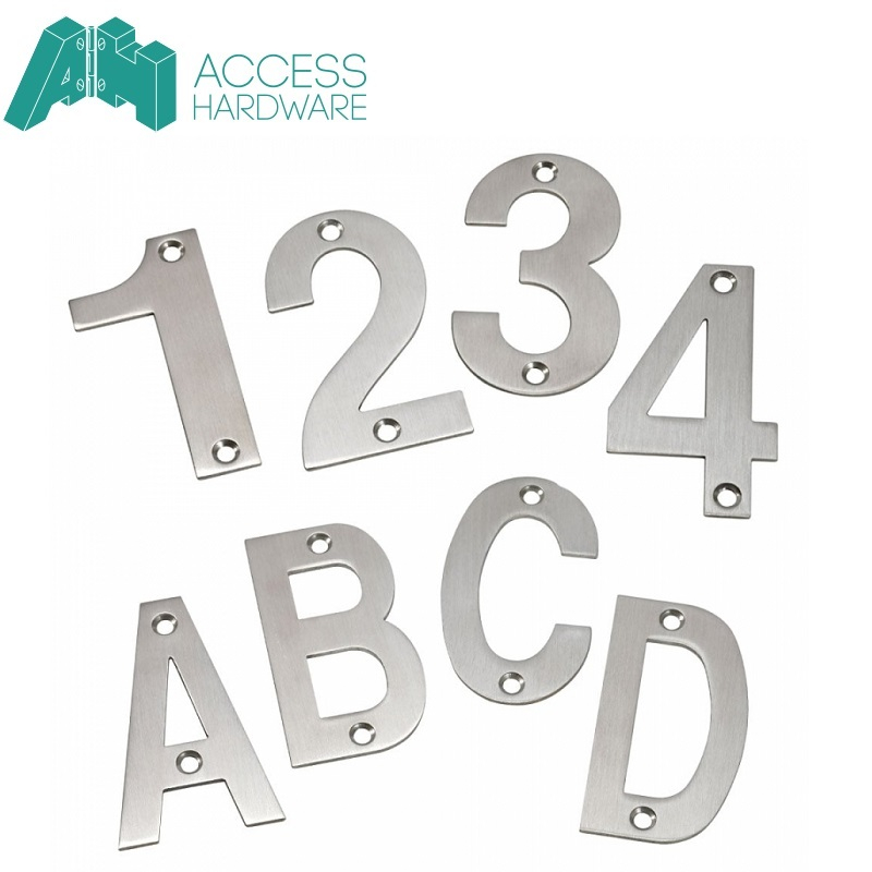 Stainless Steel Front Door Number and Letter Signs (75mm)