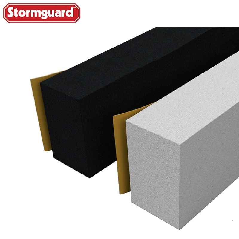 Stormguard Rubber Foam Jumbo Weatherstrip Extra Thick Seal White Black