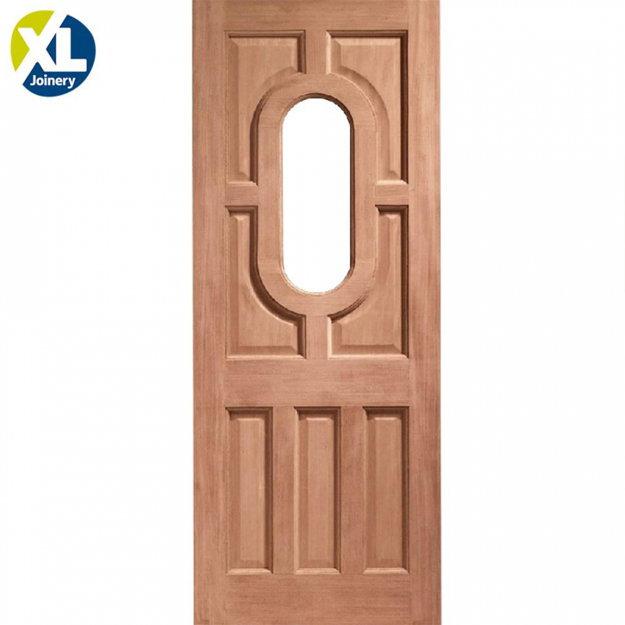 External Hardwood Acacia Unglazed D&G Door