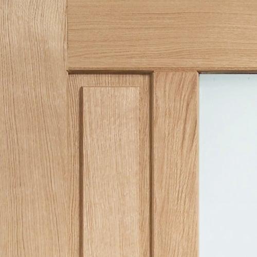 External Oak Padova Obscured Double Glazed M&T Door | Door Superstore on