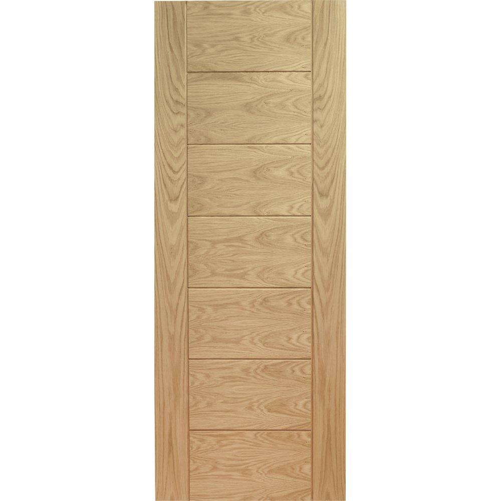 XL Joinery Internal Oak Palermo Flush Fire Door FD30 610mm