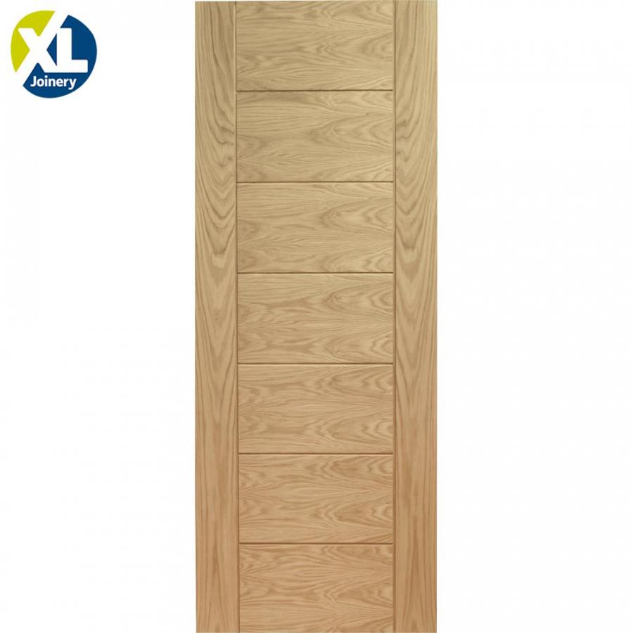 XL Joinery Internal Oak Palermo Grooved Flush Door 457mm