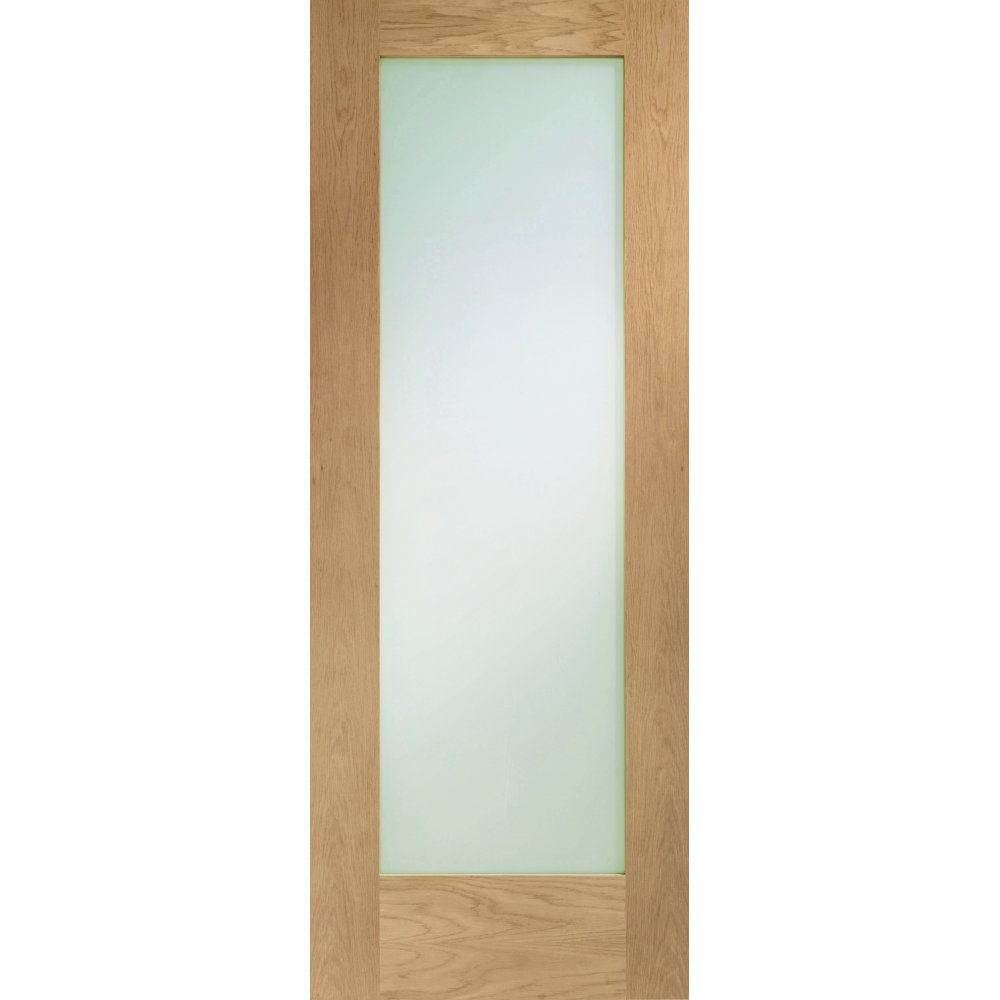 Internal Oak Pattern 10 Clear Glazed Fire Door FD30